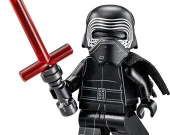 Kylo Ren STAR WARS Force Awakens Custom Minifigure 100% Lego Compatible!