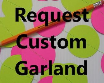 CUSTOM GARLAND, You Choose the Colors, Custom Color Birthday Garland, Custom Party Decoration