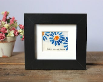 Teeny Tiny Framed Embroidery - Home Sweet Home - House Warming Gift