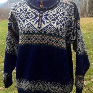 Dale of Norway, Norwegian wool sweaterade in Norway-Men's S/women's M
