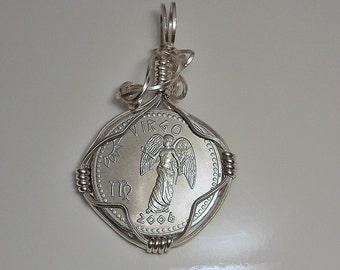 Virgo Zodiac Coin Pendant 2006
