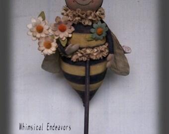 Biz Bee, Bumble Bee, A Primitive, Folk Art, Doll, Pattern