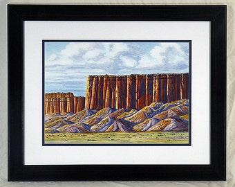 Original watercolor painting: Arizona Cliffs