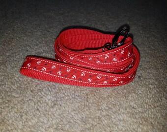 Red anchor lead - standard length leash