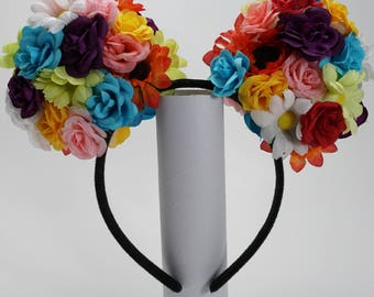 Light-Up Floral Mickey Ears
