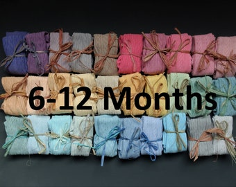 6-12 MONTHS HAND DYED baby tights in a range of beautuiful colours!