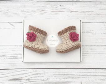 crochet booties | flower baby shoes | baby girl boots | newborn girl shoes | crochet shoes | baby girl gift