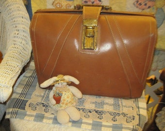 Leather Brief Case VINTAGE , Brief Case, Vintage Home Decor, Storage, Organization, Office Decor,