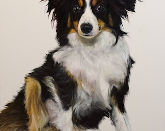 Large Custom Dog Portrait from Photograph