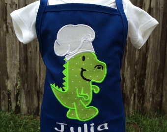 Dinosaur Personalized Birthday Apron - Personalized Apron - Personalized T-Rex - Girl - Boy - Toddler - Baby - Chef T-Rex