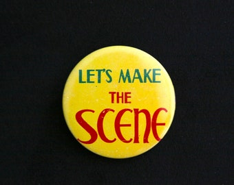 Yellow, Red and Green Let's Make THE Scene Pin Brooch