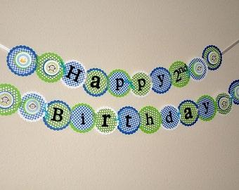 Monkey Banner.  Happy Birthday. Garland. Bunting. First Birthday. Monkey. Any Age