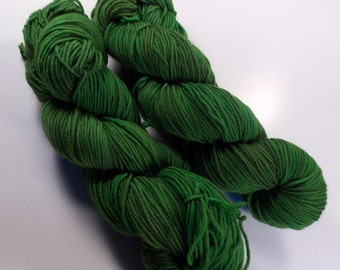 Woodsy Green on Octosport  SW Merino Hand dyed Sport weight  yarn