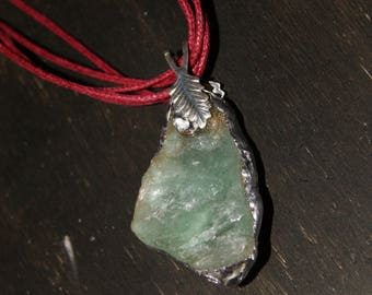 Soldered Green Fluorite crystal necklace