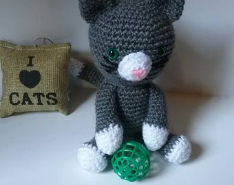Amigurumi Kitten Patterns : Pattern kaylie the kitten crochet cat pattern amigurumi cat