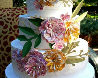 Gorgeous three tier wedding cake gift box!
