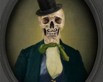 Skull Art Skull Decor Victorian Gothic Steampunk Photography Canadian Seller Skeleton Halloween Print - Mister Hinch