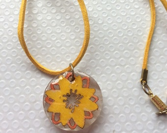 Sunny Yellow Floral Pendant