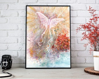 White Moth Art, Moth Artwork, Moth Watercolor, Moth Wall Art, Moth Painting, Home Decor, Luna Moth Art, Moth Wall Decor, Watercolor Painting