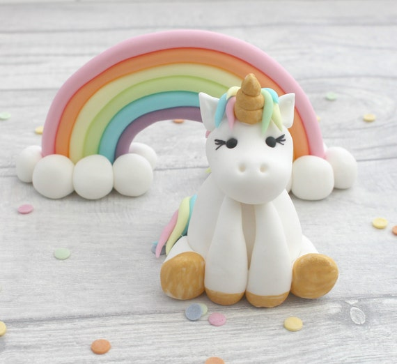 rainbow cake topper unicorn and rainbow cake toppers unicorn model sugarpaste 6945