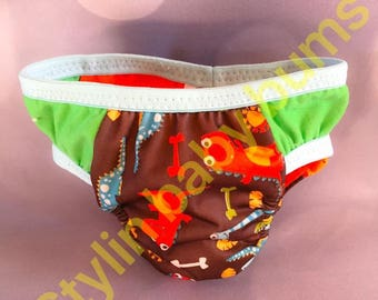 Size SMALL boys training underwear - training pants - reusable pull ups- special needs underwear - FREE SHIPPING
