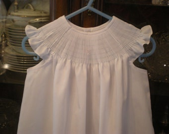 Ready to smock dress with angel sleeves made to order