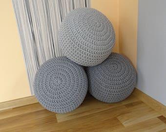 Custom color pouf ottoman Foot stool cushion crochet pillow crochet bowl stuffed pouf floor pillow knit pouf nursery decor girl boy decor