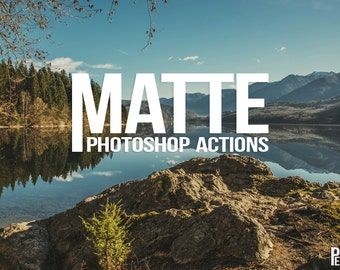 20 Adobe Photoshop Actions for Matte Finish - Vintage film effects