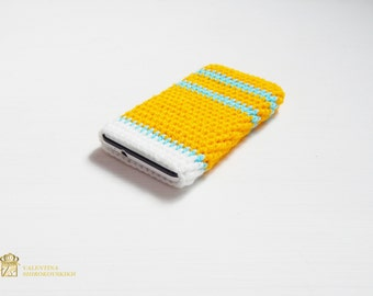 Crochet phone case, Christmas gift IPhone 6 Phone cover - personalized phone case-iphone 6s case.Cell phone case, Samsung Galaxy S4 Sleeve.