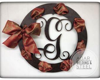Monogram Wreath with Hand Painted Textured Bronze Signature Finish