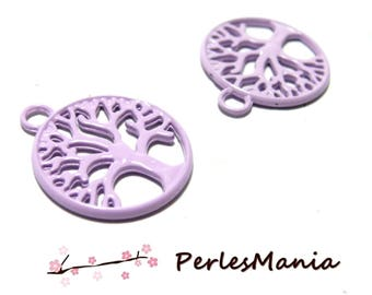 2 toned purple two-sided 20mm ref80 DIY tree medallions