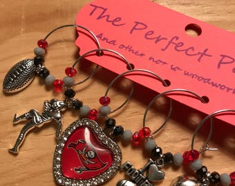 Tampa Bay Buccaneers wine charms