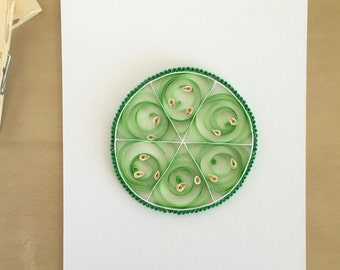 Quilling Paper Green Lime Home Decor, Lime Slice Art, Bright Kids Decor, Summer Fruit Art, Bar Decor, Margarita Art, Mojito Art, Paper Fruit