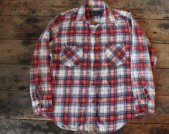 Vintage 70's Soft & Thin Flannel Shirt | JC Penny's | Size Small