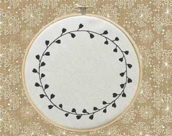 Custom Natural Leaf Frame Heart Leaf Frames Grapevine Frame Blank Machine Embroidery Design Wall Art Digital File Instant Download 4x4