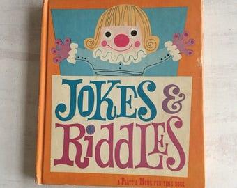 Vintage 1959 Children's Book of Jokes & Riddles