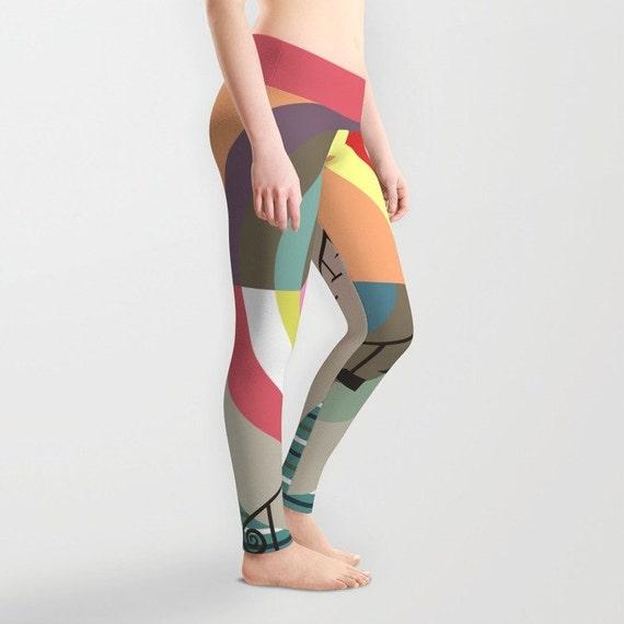 Printed Colourful Leggings, Cute Leggings, Womens Leggings, Active Wear, Yoga Leggings, Workout Leggings
