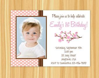 Cherry Blossom Invitation | Cherry Blossom Birthday Party Invitation | Cherry Blossom Party