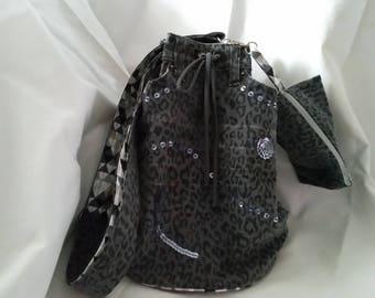 unique handmade bucket of Jean Grey recycled double shoulder bag