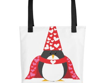 Penguin of Love Tote bag