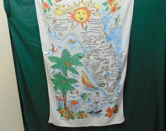 1960-70's Vintage Florida Souvenir Beach Towel