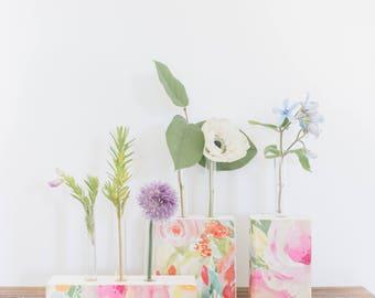 Bud Flower Vase. Pick your size. Bud Vase. Test Tube Vase. Small Vase. Housewarming gift. Gift under 20.  Gift for her. Unique Home Gift.