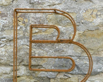 "Large letter B / Metal / Letter / Free-Standing / Industrial / Vintage / Rustic / Floral / Gift / Wedding / Home / 45cm / 17.5"""