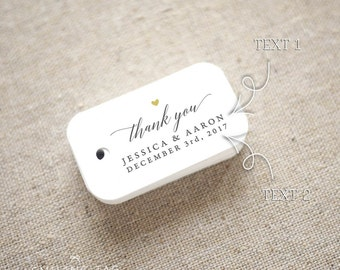 Thank You Wedding Favor Tags - Personalized Gift Tags - Bridal Shower - Thank you tags - Party Tags - Favor Bag Tag (Item code: J667)