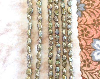 Vintage Fresh Water Pearls Rice Shape, Made in Japan, 3mm, 50Pcs