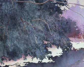 Spring Thaw - Original Watercolor Painting - Landscape