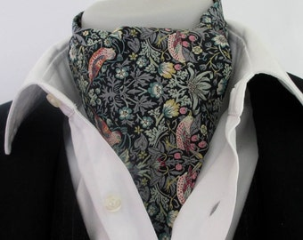Cravat in Strawberry Thief ~ CAN BE MADE in your choice of fabric by request ~ Kravat ~ ascot tie ~ wedding necktie