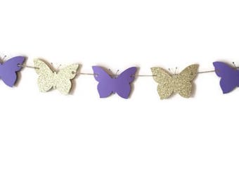 Butterfly banner , Butterfly garland , Butterfly baby shower Butterly decor , Butterfly birthday , Butterfly garden party , Butterfly party
