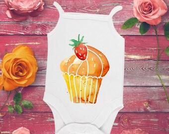 Orange muffin personalized baby girl bodysuit, Muffin baby shower gift, First birthday, Baby shower girl, Baby girl clothes, Gift for baby