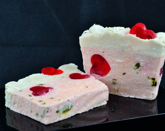 Rose Buttermilk Soap with an English Rose Fragrance, Milk Soap, Natural Soap, Rose Gift, Gift for mum